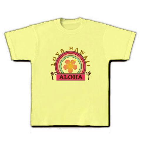 LOVE HAWAII Tシャツ ライトイエロー
