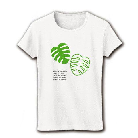 モンステラ リブクールネックTシャツ(A)ホワイト