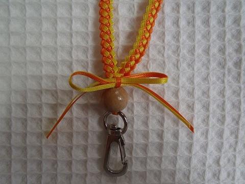 ブレードのネックストラップ <キット> (イエロー/オレンジ) 【送料無料】 (手作りキット、マニュアル、作り方、手順)