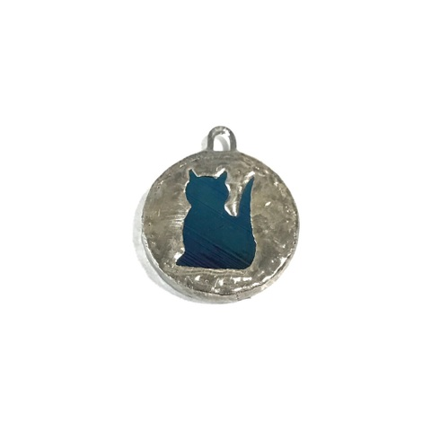 Black iridesento CAT COIN