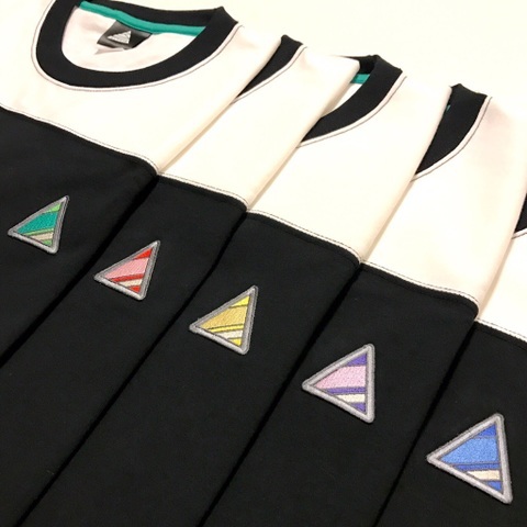 PIECE TOP Football T-Shirt【White × Black】
