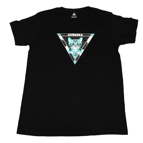 NYALTAIR T-shirt【Black × Emerald】