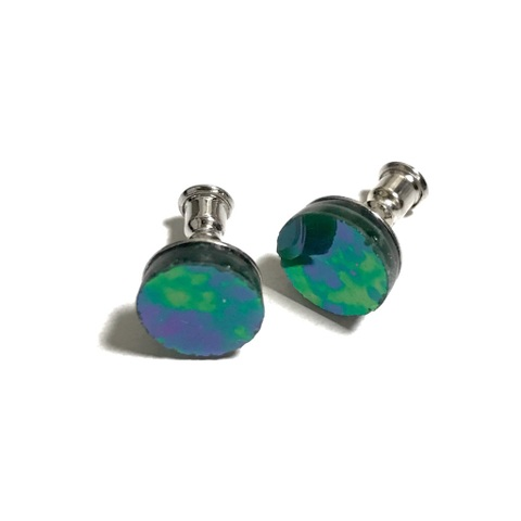 【8/13】Perfume pierced earrings 【Planet GREEN iridesento】