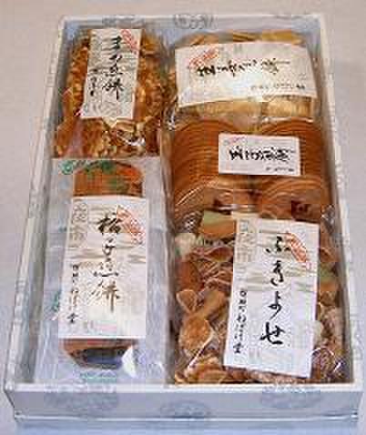 詰合せ(格子煎餅・ふきよせ・まめ煎餅・生姜煎餅・玉子煎餅)