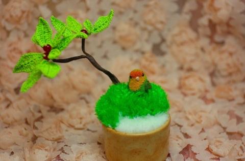ミニ盆栽インコ(コザクラ)