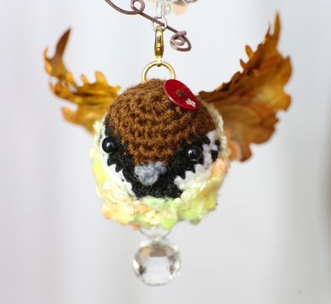 秋のスズメ妖精