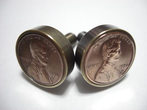 真鍮「ブラス」製1¢コインボルト®直径21mmA-TYPE