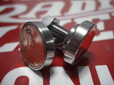 ステンレス製1¢ナンバープレート用コインボルト®直径21mm