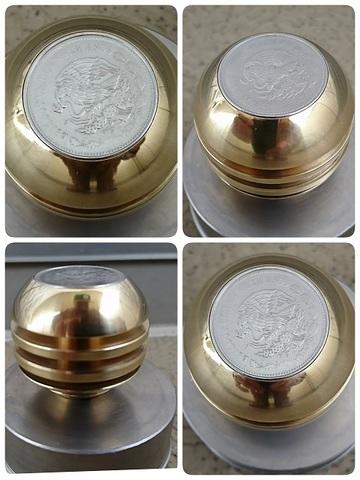 真鍮「ブラス」製コインノブ®(シフトノブ)