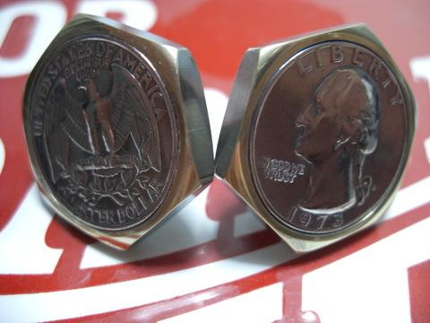真鍮「ブラス」製25¢六角コインボルトA-TYPE