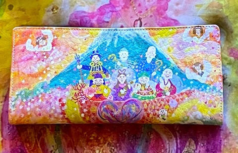 *幸せを招く七福神と天使たちの長財布*