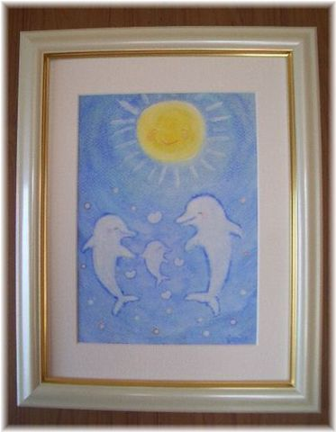 愛と幸福を引き寄せるイルカの魔法の絵☆