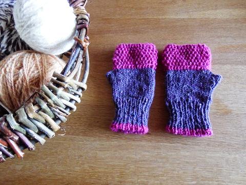 羊毛100% アイルランドの指なし手袋 / Lavender(ラベンダー)