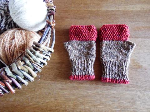 羊毛100% アイルランドの指なし手袋 / Rowan(ローワン)