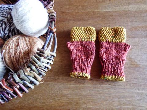 羊毛100% アイルランドの指なし手袋 / Maple(メープル)