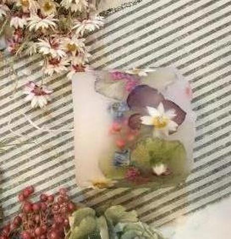 Sold out  アンティーク紫陽花&花々 ハンドメイド ボタニカルキャンドル