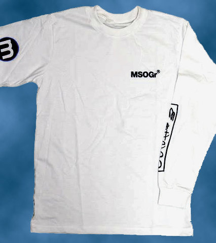 MSOGr × A-pop long sleeve T-shirt #02 White