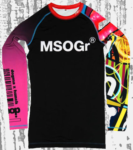 "Musou gear long sleeve Rash guard ""mg+ap=(a+f)p"""