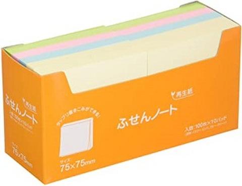 再生紙 ふせんノート  6箱セット