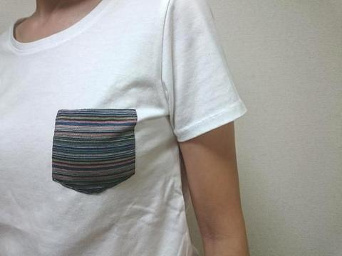 【aqua wistaria】 コットン天竺半袖Tシャツ