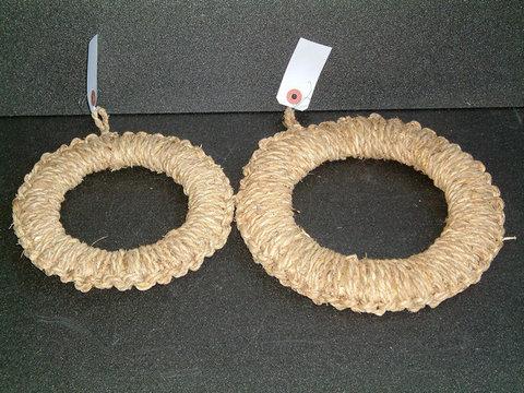 【057】わら 手編み鍋敷き 七寸 大