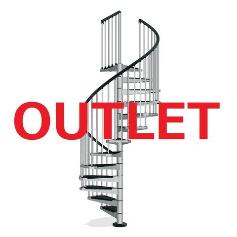 OUTLET-CIVIK140グレー 屋内用螺旋階段