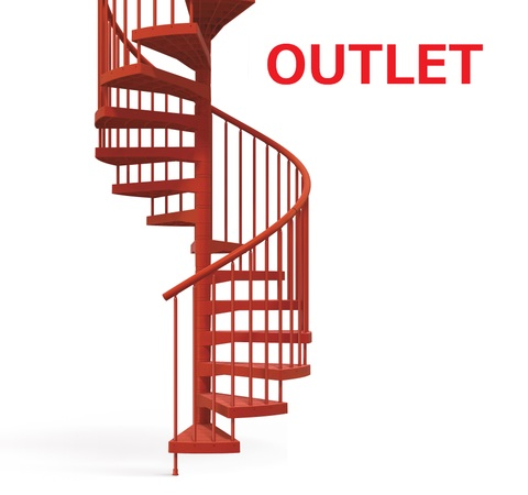 《OUTLET》TECHNEテクネ 直径123㎝ 12段上がり 屋内外用螺旋階段