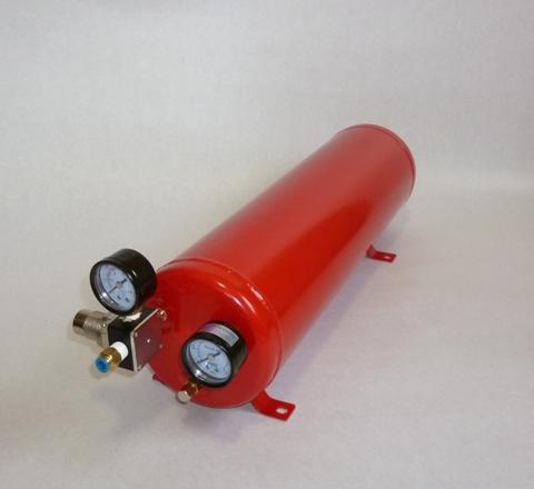 【受注生産】ガスガン専用エアタンク 5.6L ラージモデル スターターセット