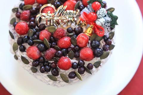 (お誕生日プレートに変更可)米粉のストロベリーケーキ