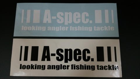 ッティングステッカーL A-spec. looking angler fishing tackle