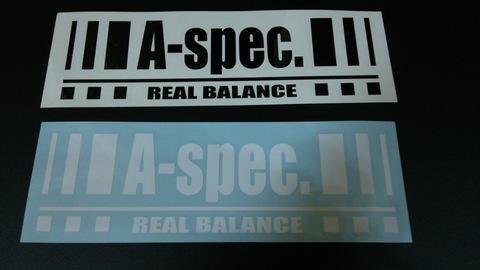 カッティングステッカーM A-spec. Real balance