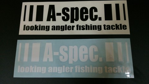 カッティングステッカーM A-spec. looking angler fishing tackle
