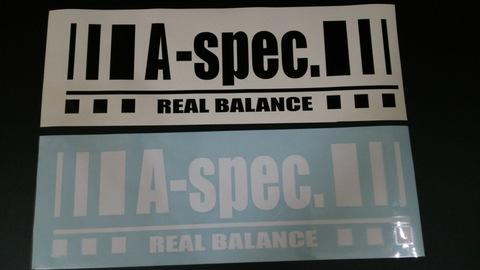 カッティングステッカーL A-spec. Real Balance
