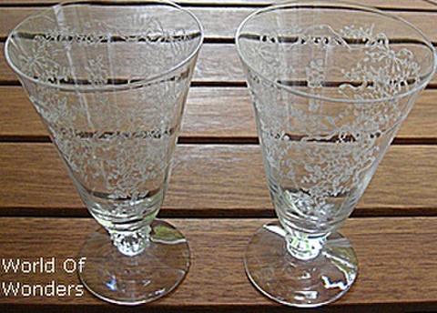 アメリカ製 フォストリア ロマンス アイスティーグラス 2個組セット