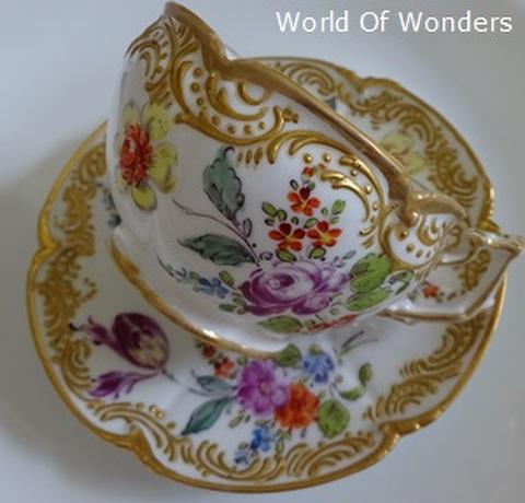 フランス製 オールドパリス パリ窯 ティーカップ&ソーサー