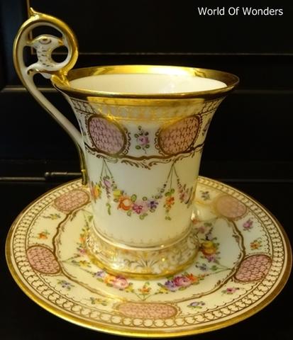 ドイツ製 ドレスデン ドナート工房 チョコレートカップ&ソーサー(イーグルヘッド)