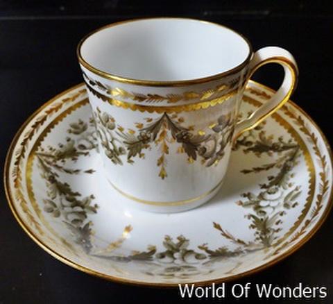 <送料無料!>イギリス製 アンティークスポード 1840's カップ&ソウサーー