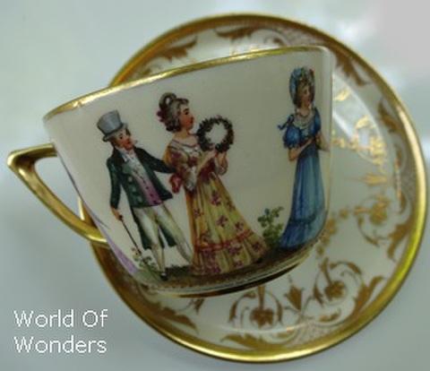 ドイツ製 ドレスデン ヴェーゼナー工房 ティーカップ&ソーサー