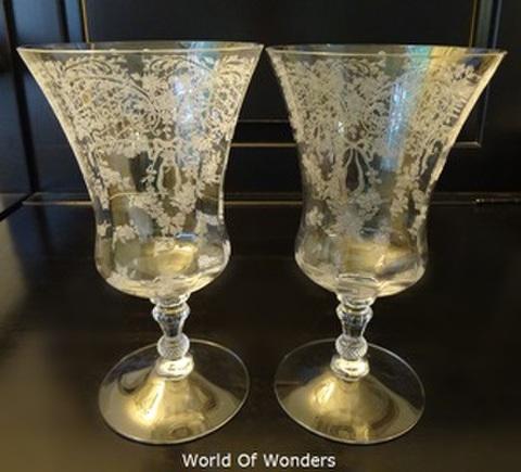 アメリカ製 ケンブリッジ リボンガーランド(ローズ)アイスティーグラス2客組セット