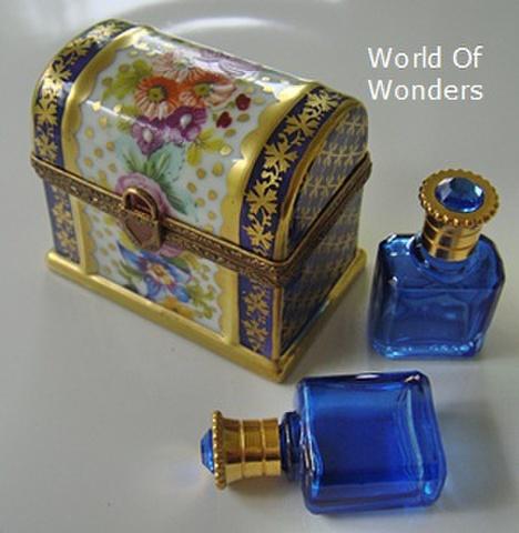 フランス製 リモージュボックス (3パフュームボトル)
