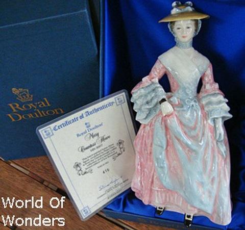 イギリス製 ロイヤルドルトン フィギュア メアリー・ハウ伯爵夫人