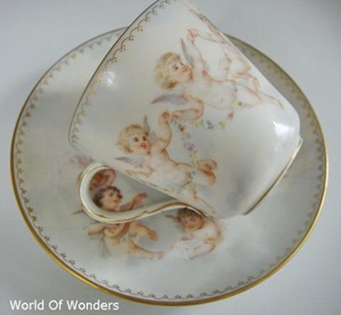 ドイツ製 ドレスデン ラム工房 天使のカップ&ソーサー