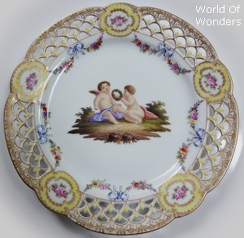 ドイツ製 ドレスデン ヘレナ・ヴォルフゾーン工房 天使のキャビネットプレートB