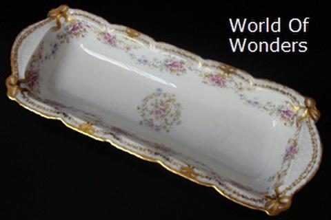フランス製 リモージュ 金のリボン 長皿