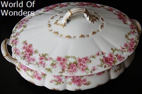 フランス製 リモージュ 蓋付きキャセロール(楕円)