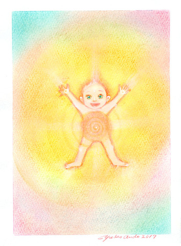 ベビーエンジェル1人(赤ちゃんの絵)