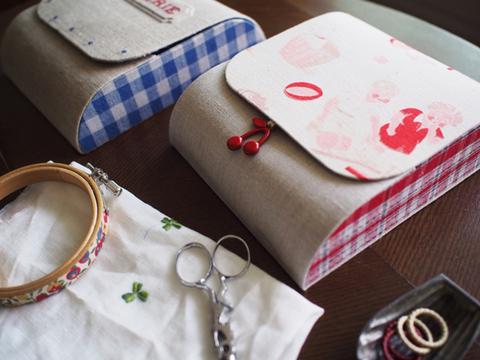 刺繍のためのポーチ