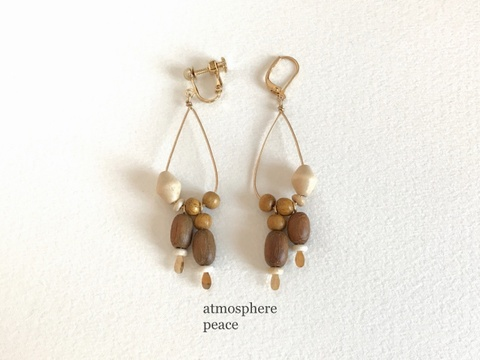 時間(clip-on/pierced earrings)