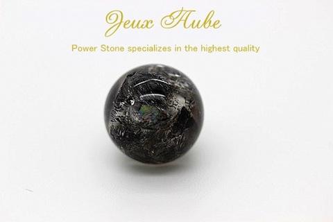 粒売り リメイク用 神巫(かんなぎ)ストーン(ブラックエレスチャル)神や精霊など、神界・霊界・自然界の超物理的な存在と交流する 12ミリ 天然石パワーストーン