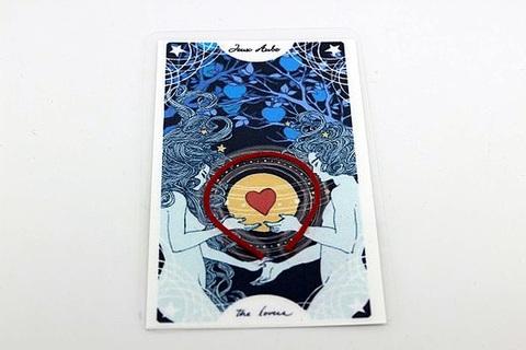 【完売】恋を叶えるお守り ストロベリームーンのパワー入り 恋愛成就お守りカード